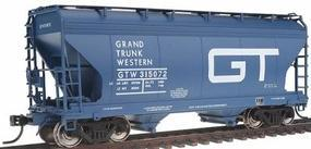 Intermountain 2-Bay Center-Flow Covered Hopper Grand Trunk Western HO Scale Model Train Freight Car #46532