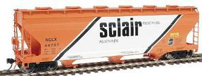 Intermountain ACF 3-Bay Covered Hopper Sclair, Phase I HO Scale Model Train Freight Car #47020