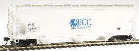 Intermountain ACF 3-Bay Covered Hopper ECC International HO Scale Model Train Freight Car #47028
