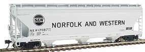 Intermountain ACF 4650 Cubic Foot 3-Bay Covered Hopper N&W HO Scale Model Train Freight Car #47029