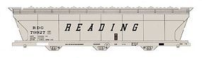 Intermountain ACF 4650 Cubic Foot 3-Bay Covered Hopper Reading HO Scale Model Train Freight Car #47075