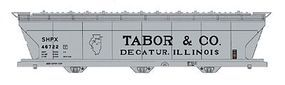 Intermountain ACF 4650 Cubic Foot 3-Bay Covered Hopper Tabor & Co. HO Scale Model Train Freight Car #47081