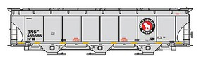 Intermountain Trinity 5161 Cubic Foot Covered Hopper - Ready to Run BNSF Railway (Great Northern Legacy Scheme, gray, Rocky Logo)