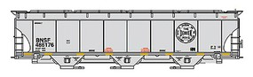 Intermountain Trinity 5161 Cubic Foot Covered Hopper - Ready to Run BNSF Railway (Denver Road Legacy Scheme, gray, Circle Logo)