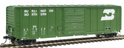 Intermountain Railway Company 5277 Cu.Ft. Exterior-Post Boxcar Burlington Northern -- HO Scale Model Train Freight Car -- #47504