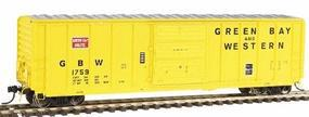 Intermountain 5277 Cu.Ft. Exterior-Post Boxcar Green Bay & Western HO Scale Model Train Freight Car #47506