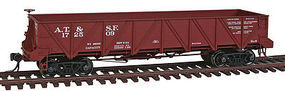 Intermountain Santa Fe Caswell Gondola Santa Fe Class Ga-9 HO Scale Model Train Freight Car #47756