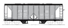 Intermountain Covered Hopper 1958 Cubic foot Elgin, Joliet & Eastern HO Scale Model Train Freight Car #48664