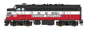 Intermountain EMD F7A with DCC - Western Maryland HO Scale Model Train Diesel Locomotive #49094
