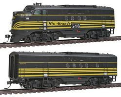 Intermountain EMD FTA-B Set with DCC - New York Central HO Scale Model Train Diesel Locomotive #49205