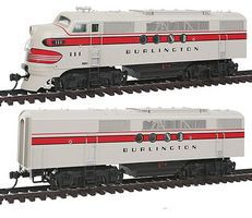 Intermountain EMD FTA-B Set DCC - Chicago, Burlington & Quincy HO Scale Model Train Diesel Locomotive #49207