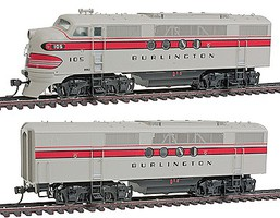 Intermountain EMD FT AB Set w/Snd CB&Q HO-Scale