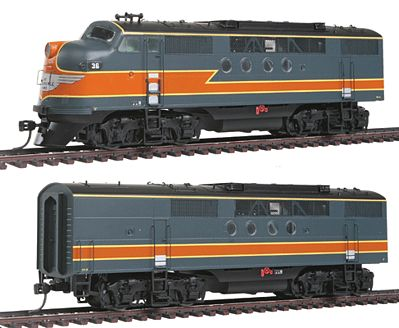 Intermountain Railway Company EMD FTA-B Set DCC - Milwaukee Road gray, orange -- HO Scale Model Train Diesel Locomotive -- #49217