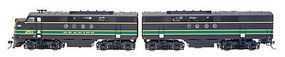 Intermountain EMD FTA-B Set with DCC - Reading HO Scale Model Train Diesel Locomotive #49223