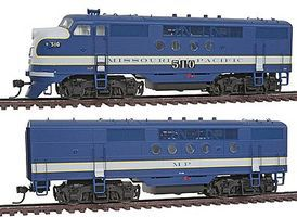 Intermountain EMD FTA-B Set with DCC - Missouri Pacific HO Scale Model Train Diesel Locomotive #49225