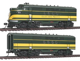 Intermountain FT A/B Loco Set EMD Demo - HO-Scale