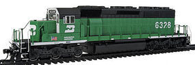 Intermountain SD40-2 Loco without Sound Burlington Northern HO Scale Model Train Diesel Locomotive #49321