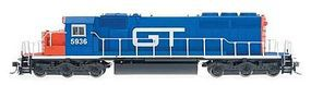Intermountain EMD SD40-2 DCC Grand Trunk (Blue, red, white) HO Scale Model Train Diesel Locomotive #49331