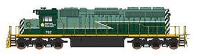 Intermountain EMD SD40-2 Standard DC British Columbia Railway HO Scale Model Train Diesel Locomotive #49351