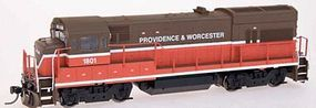 Intermountain GE U18B DC Providence & Worcester (Late Scheme) HO Scale Model Train Diesel Locomotive #49455