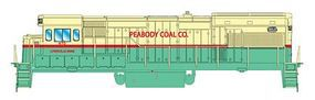 Intermountain GE U18B - Standard DC - Peabody Coal Co. HO Scale Model Train Diesel Locomotive #49459