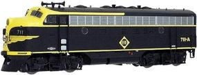 Intermountain EMD F7B DC Erie black, yellow w/Diamond herald HO Scale Model Train Diesel Locomotive #495181