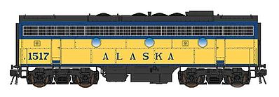 Intermountain Railway Company EMD F7B with DCC - Alaska Railroad #1517 -- HO Scale Model Train Diesel Locomotive -- #49595