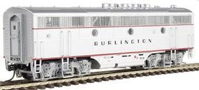 Intermountain EMD F3B DC Chicago, Burlington & Quincy Silver HO Scale Model Train Diesel Locomotive #49617