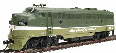 Intermountain Railway Company EMD FP7 Phase I - Standard DC - Northern Pacific -- HO Scale Model Train Diesel Locomotive -- #49933