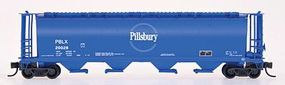 Intermountain 59 4-Bay Cylindrical Covered Hopper Pillsbury N Scale Model Train Freight Car #65105