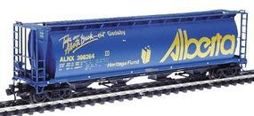 Intermountain 59 4-Bay Cylindrical Covered Hopper Alberta ALNX N Scale Model Train Freight Car #65117