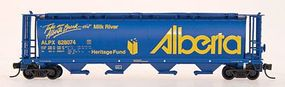 Intermountain 59 4-Bay Cylindrical Covered Hopper Alberta ALPX N Scale Model Train Freight Car #65118