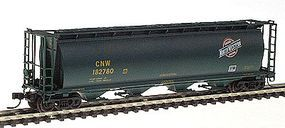 Intermountain 59 4-Bay Cylindrical Covered Hopper - Trough Hatch Version - Ready to Run Chicago & North Western (dark green w/yellow lettering) - N-Scale