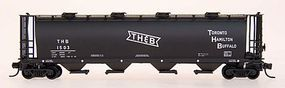 Intermountain 59 4-Bay Cylindrical Covered Hopper T,H,&B N Scale Model Train Freight Car #65211