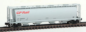 Intermountain Cyln Cvrd Hopp Rnd CP Red - N-Scale