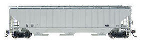 Intermountain 4750 3 Bay Hopper Data gray N Scale Model Train Freight Car #65286