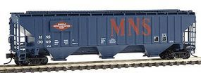 Intermountain PS2CD 4750 Cubic Foot 3-Bay Covered Hopper MNS N Scale Model Train Freight Car #65353