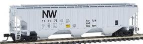 Intermountain PS2CD 4750 Cubic Foot 3-Bay Covered Hopper N&W N Scale Model Train Freight Car #65358