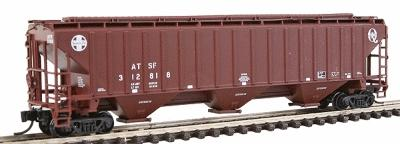 Intermountain Railway Company PS2CD 4750 Cubic Foot 3-Bay Covered Hopper ATSF -- N Scale Model Train Freight Car -- #65361