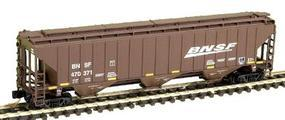Intermountain 4750 3 Bay Hopper BNSF Wdg N Scale Model Train Freight Car #65368