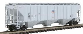 Intermountain PS2CD 4750 Cubic Foot 3-Bay Covered Hopper UP N Scale Model Train Freight Car #65371
