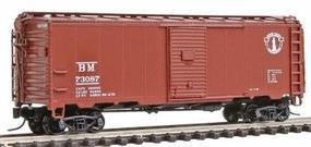 Intermountain 1937 AAR 40 Boxcar - Ready to Run - Boston & Maine N Scale Model Train Freight Car #65761