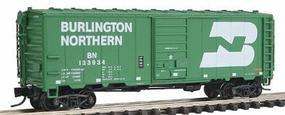 Intermountain 40 12-Panel Boxcar Ready to Run Burlington Northern N Scale Model Train Freight Car #66019