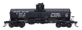 Intermountain ACF Type 27 Riveted 8000-Gallon Tank Car - Ready to Run Spencer Kellogg & Sons, Inc. (black w/white lettering) - N-Scale