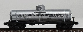 Intermountain ACF Type 27 Riveted 8000-Gallon Tank Car - Ready to Run A.E. Staley Manufacturing Co. (silver, black letering) - N-Scale