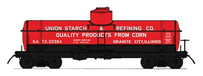 Intermountain Railway Company ACF Type 27 Riveted 8000-Gallon Tank Car -- N Scale Model Train Freight Car -- #66331