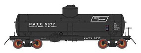 Intermountain ACF Type 27 Riveted 8000-Gallon Tank Car - Ready to Run North Americna Car Corporation (black, white, Parallelogram Logo) - N-Scale