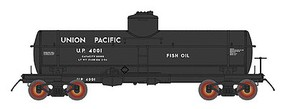 Intermountain ACF Type 27 Riveted 8000-Gallon Tank Car - Ready to Run Union Pacific (black) - N-Scale