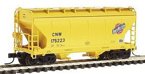 Intermountain ACF 2-Bay Center-Flow Covered Hopper Chicago & NW N Scale Model Train Freight Car #66522