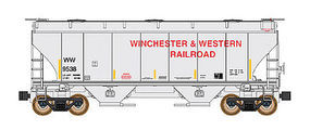 Intermountain Covered Hopper Trinity #3281 Winchester & Western N Scale Model Train Freight Car #669003